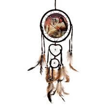 "Ловец снов ""<b>Девушка и волки</b>"", диаметр 16 см, 10 см, 7 см, длина ..."