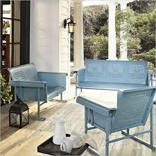 crosley furniture veranda 3 piece glider set in caribbean blue caribbean furniture