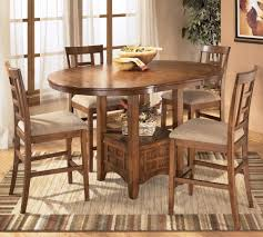 ashley furniture kitchen tables: ashley furniture cross island  piece counter height ext table dining set dunk amp bright furniture pub table and stool set