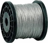 «<b>Трос</b> стальной, <b>DIN 3055</b>, оцинкованная сталь, синтетич ...