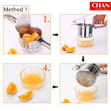 CHAN Manual Juicer Household Stainless Steel Baby Fruit Juicer ...