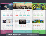 Free PSD template: Modus Versus | Science and Technology