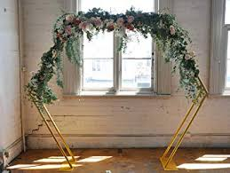 Hexagonal Gold Wedding Ceremony Arch - Beautiful ... - Amazon.com