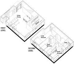 Units for Families   University HousingThree Bedroom Square Shape Two Level Apartment Floor Plan