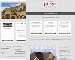 gregor roofing jfw designs mcmurray pittsburgh web design gregor roofing