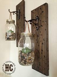 rustic diy mason jar wall lanterns adore diy hanging mason