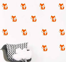 <b>YOYOYU</b> 36 Set Orange Forest Fox Pattern <b>Wall Sticker</b>-Kids ...