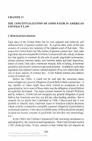 the conceptualization of good faith in american contract law inside