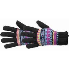 Manzella Fairisle <b>Wool Blend</b> Outdoor <b>Gloves</b> for <b>Women</b>