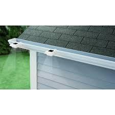 Hampton Bay Solar Powered Integrated <b>LED</b> White Roof <b>Gutter</b> ...