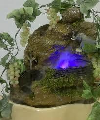 Настольный <b>фонтан с колесом</b>, лозой и туманом, купить фонтан