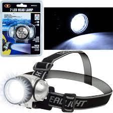 <b>Super Bright 7</b>-<b>LED Headlamp</b> with Adjustable Strap - Walmart.com