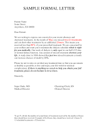formal letter format example letter format  official