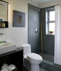 contemporary bathroom wall art slate shower tile bathroom modern with cabinets chrome fixtures counte