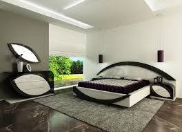 black white style modern bedroom silver floor blue white contemporary bedroom interior modern