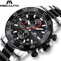 <b>MEGALITH</b> Military <b>Watches Men</b> Stainless Steel Band Waterproof ...