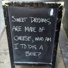 Sweet Dreams are made of cheese, who am I to dis a Brie | The ... via Relatably.com