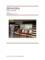 sephora case study perfume retail