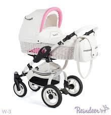 Детская <b>коляска 3 в</b> 1 <b>Reindeer</b> Wiklina City White&Rose   Купить в ...