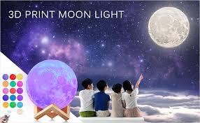 AGM Moon Lamp 3D Printing <b>16 Colors</b> 5.9 Inch <b>Hanging</b> Moon