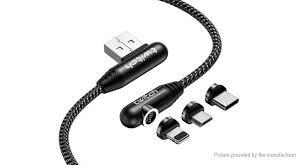 <b>Twitch Magnetic</b> 3-in-1 8-pin/Micro-USB/USB-C to USB 2.0 ...