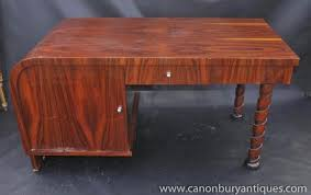 art deco pedestal desk writing table 1920s office furniture art deco office