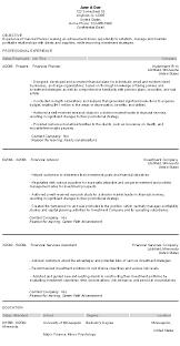 education advisor resume sample   academic resume example    financial advisor