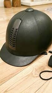 Rhinegold <b>Leather</b> Pro Riding Hat - <b>Adult</b> - <b>Black</b> Size 7 1/8. <b>Brand</b> ...