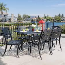 patio dining: belham living san miguel cast aluminum  piece patio dining set seats  patio dining sets at hayneedle