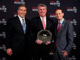 images ally financial ally financial from left tim russi ally financial president of auto finance michael alford the 2013 time dealer of the year and brad young chief marketing officer of