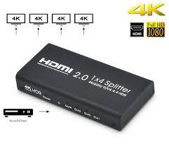 <b>AYS</b>-14V20 HDMI 2.0 Splitter Support 4K/60Hz 1 Input 4 Outputs ...