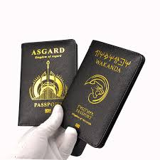 Wakanda <b>Passport</b> Holder <b>Rfid Blocking</b> Pu Leather Asgard ...