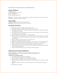 customer service resume objective worker resume summary of skills and professional work experience for resume objective for customer service representative png