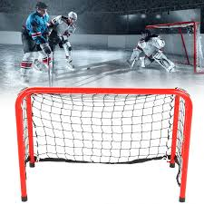 Red Folding Stainless Steel <b>Hockey</b> Goal Net <b>Gate</b> Frame Portable ...