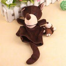 New Fashion 2Pcs Wolf <b>Animal Finger Puppet</b> Baby Infant Kid Toy ...