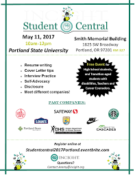 student central workshop at the incight career expo portland tags