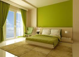 bright green bedroom rendering stock photo