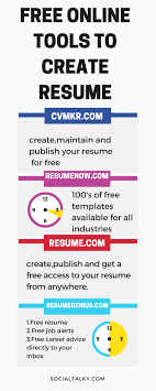 resume builders online infographic social talky 10 resume builders online