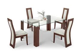 glass dining table and 6 chairs sale