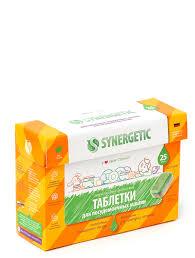 SYNERGETIC <b>таблетки для посудомоечных машин</b> 25шт в ...