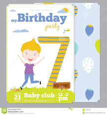 birthday party invitation card template cute stock vector birthday party invitation card template cute stock photography