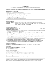 resume examples sample resume electronics technician sample of technology professional resume sample summary of qualifications in communications and technical skills
