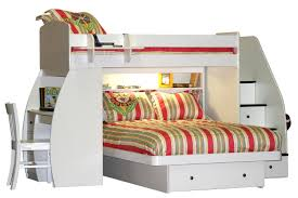 white polished solid wood bunk bed with storage and desk also stair built in bookshelf as childrens bunk bed desk full