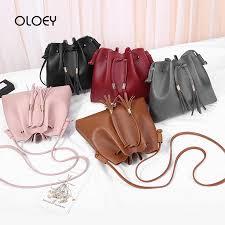 Vintage Small Women Tassel <b>Bucket Bag For Luxury</b> Handbags ...