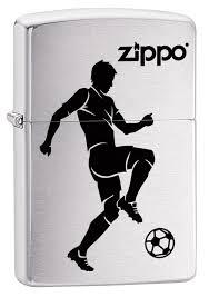 "<b>Зажигалка Zippo</b> ""<b>200 Soccer</b> Player"", 3,6 х 1,2 х 5,6 см"