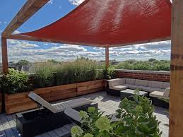 Small Picture Roof Deck Pergola Shade Sail Urban Landscape Garden Design Outdoor