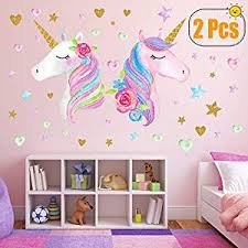 2 Sheets Large Size Unicorn Wall Decor,Removable ... - Amazon.com
