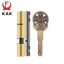KAK <b>Brass</b> Cylinder <b>C Grade Copper</b> Door Lock <b>Core</b> With 8 Keys ...