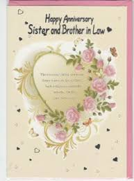 Anniversaries - Sister and Brother in Law - English Greeting Cards ...