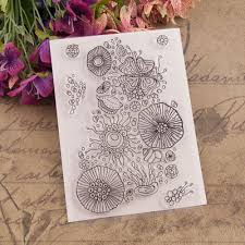 Background Bubble <b>Balloon Transparent Clear Silicone</b> Stamp Seal ...